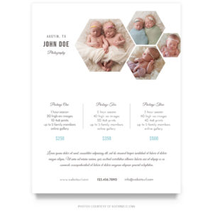 newborn portraits price guide template for photographers