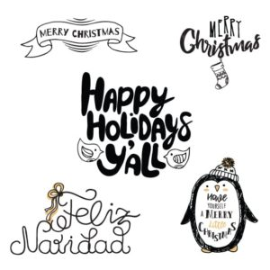 christmas word art overlays