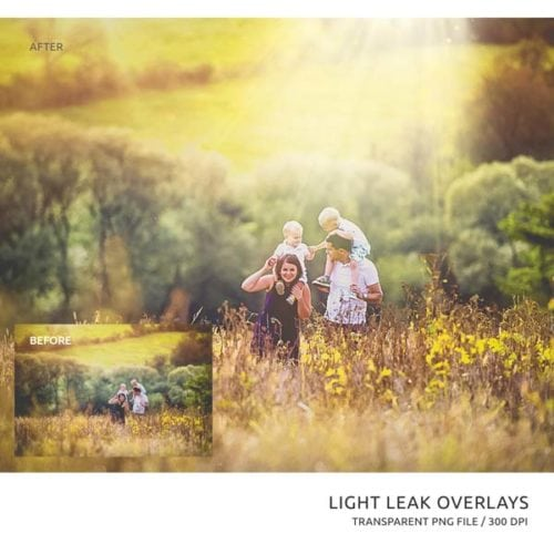 light rays photo overlays