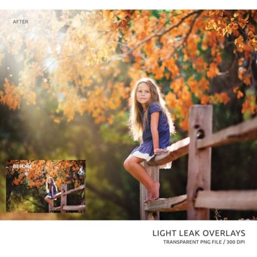 fall light leak overlays