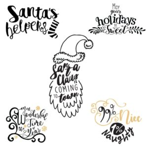Christmas Lettering in PNG format
