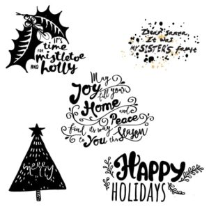 Merry Christmas Word Art Overlays