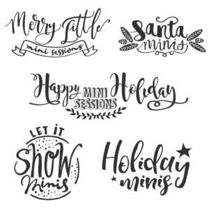 Mini Session word art overlays for photographers