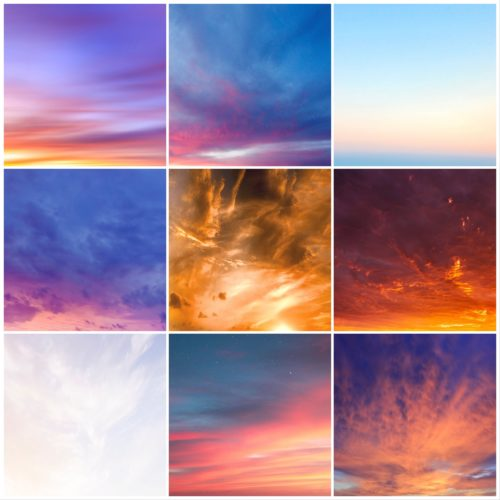 beach sky overlays