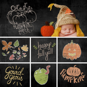 fall chalk sketch overlays