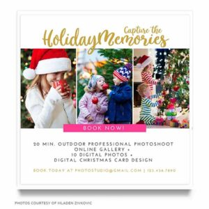 Holiday Minis Marketing Board