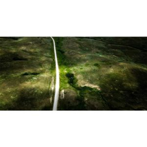 single road aerial stock photo