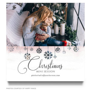 christmas mini session marketing board