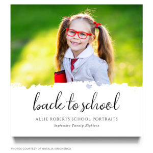 back to school mini session marketing board