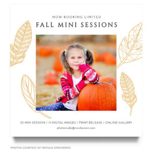 fall mini session marketing board template