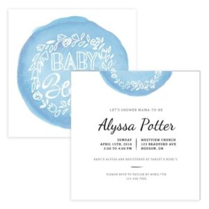 Baby in Bloom birth announcement Photoshop template