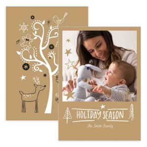 Christmas Card Template for Photographers in Photoshop format
