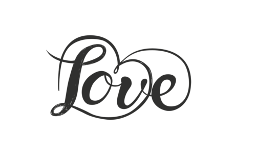 Love word art overlay file in png and photoshop file format