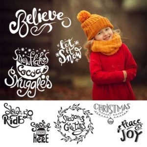 holiday word art photo overlays