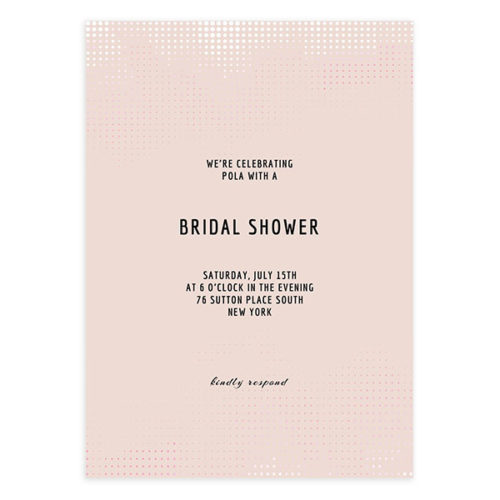 Pink Modern Bridal Shower Invite Template