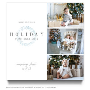 Holiday Mini Session Kids Photography Advertisement
