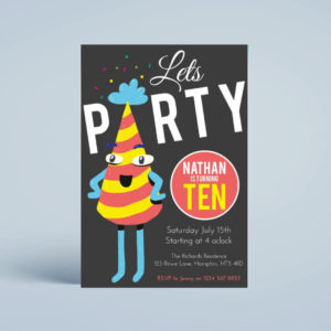 Lets Party Birthday Party Invite Template