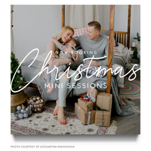 christmas mini session template for Photographers