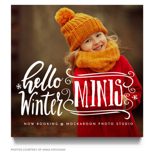 Christmas Minis Photoshop Template for Photographers
