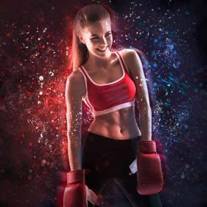 Particles Sports Background for Sports Photos