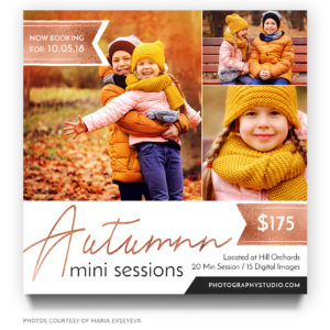 Autumn Minis Marketing Template