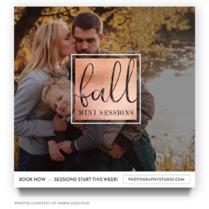 Fall Mini Session Template for Photographers