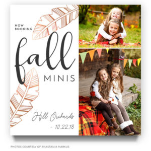 fall portraits template for photographers