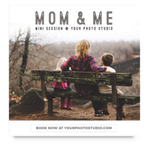 Mothers Day Mini Session Template for Photographers