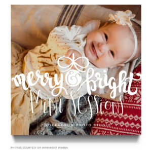 holiday mini session psd template for photographers