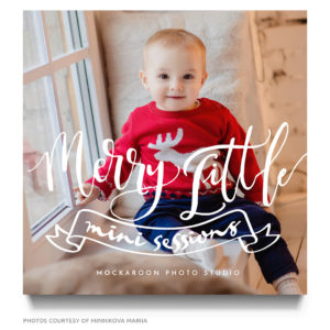 holiday baby mini session marketing board template
