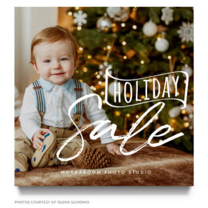 holiday sale marketing template