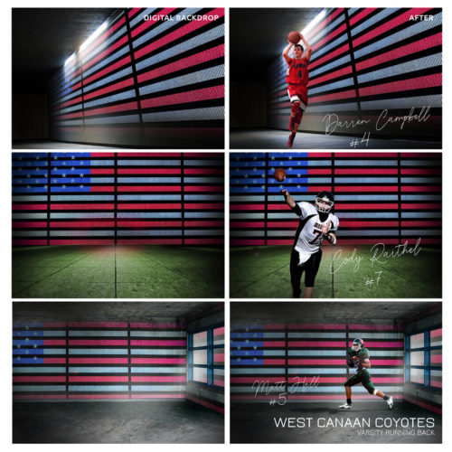 patriotic sports digital backdrops