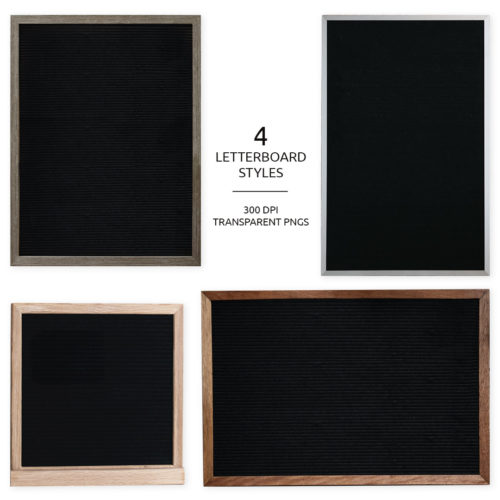 letter board png overlays