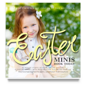 Easter Mini Sessions Marketing Board