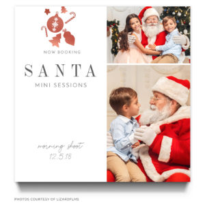Kids photo shoot with Santa Claus Ad Template for a Photographer