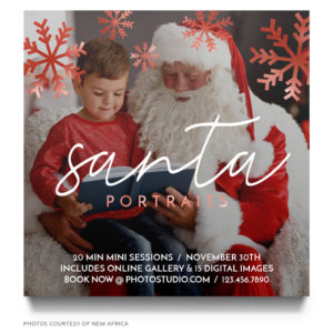 Santa Claus Kids Photography Advertisement