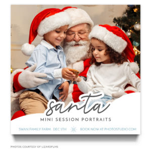 Santa Minis Session Template used for Photography Marketing