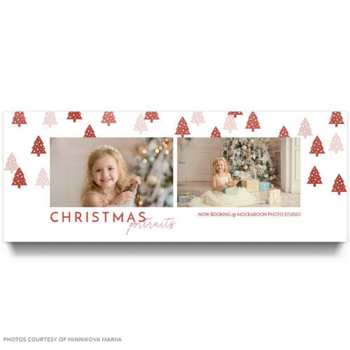 Christmas Portraits Facebook Cover Template For Photographers