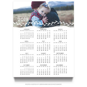 16x20 2019 Calendar Template for Photographers