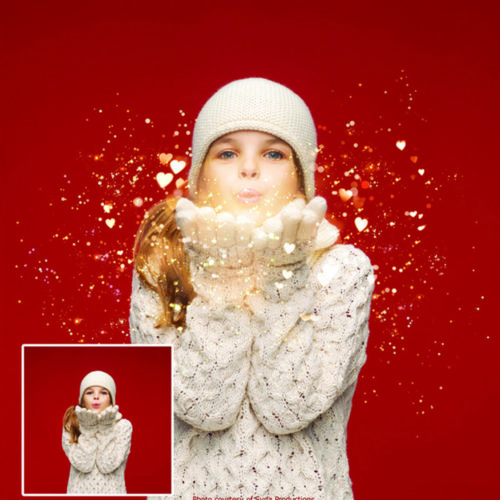 Blowing glitter overlays for photographers