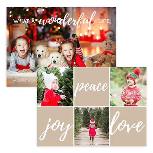 Wonderful Christmas Holiday Card Template