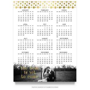 Wedding Calendar Template in PSD format