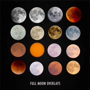 full moon overlays for photographers
