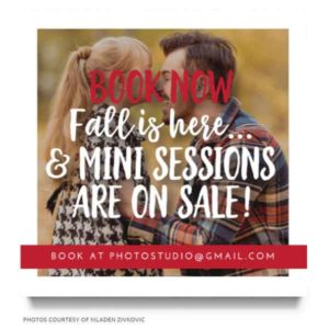 Fall Photography Marketing Board