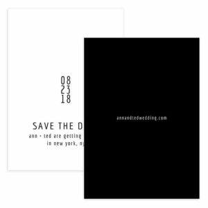 Black and White Save the Date Template