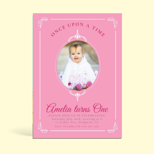 Fairytale Birthday Invitation Card Mockaroon