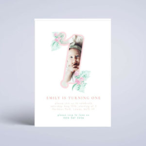 first birthday party invite template
