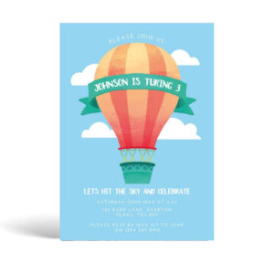 Balloon Birthday Party Invite Template