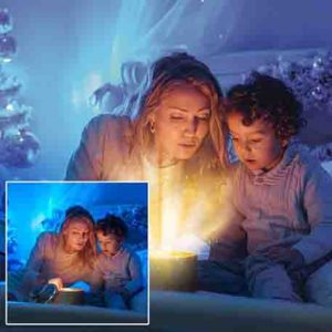 magic book light overlays for Christmas Photography