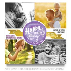 Fathers Day Mini Session Marketing board
